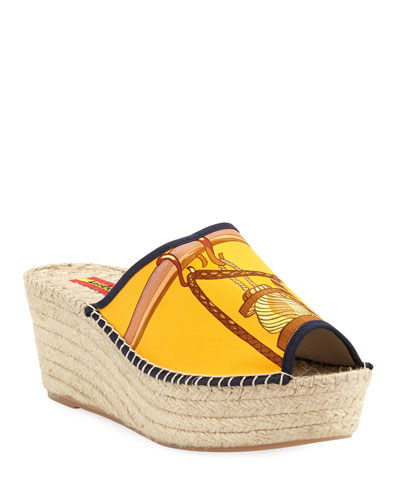 Charo Wedge Slide Espadrille Sandals
