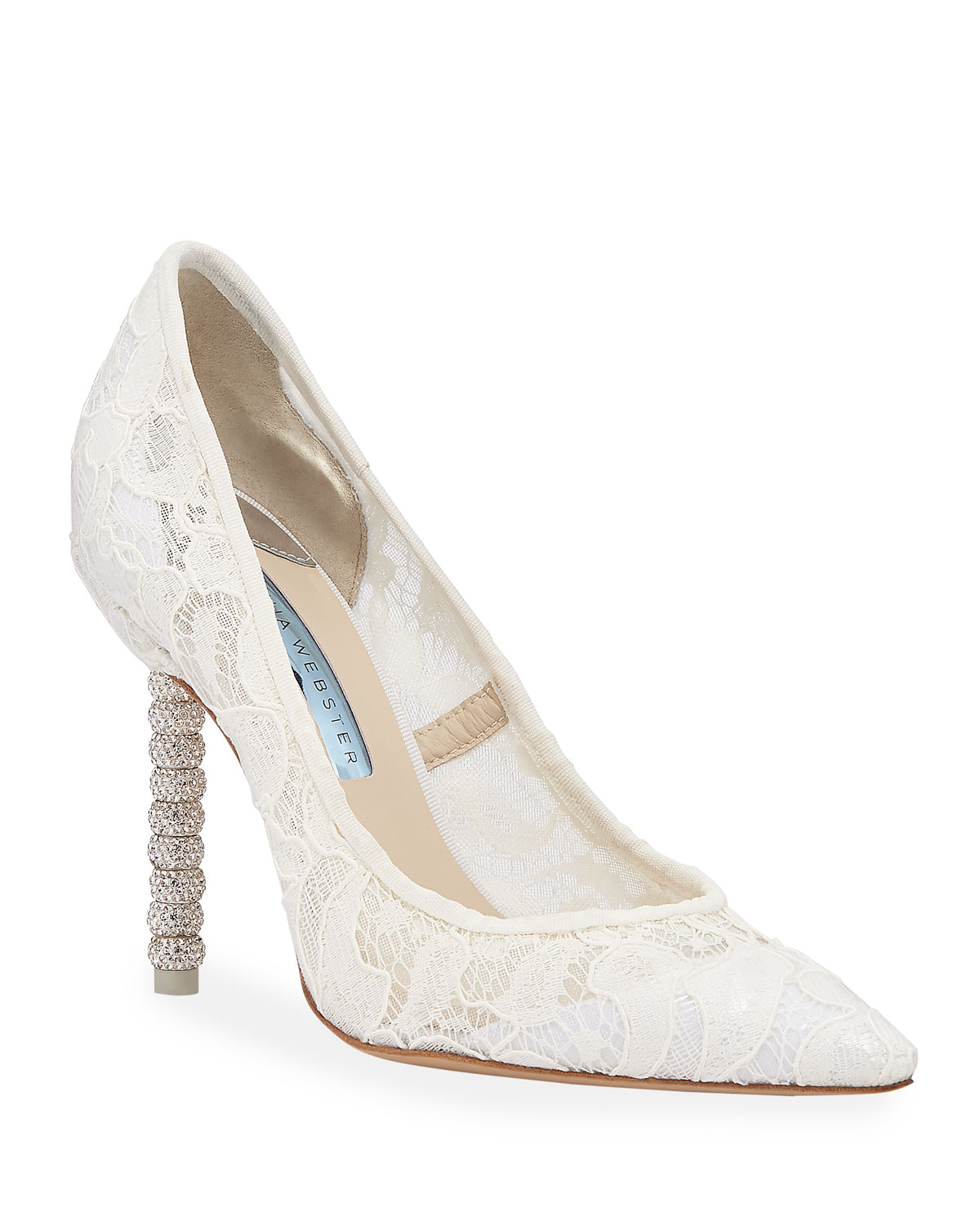 Sophia Webster Pumps COCO CRYSTAL LACE BRIDAL PUMPS