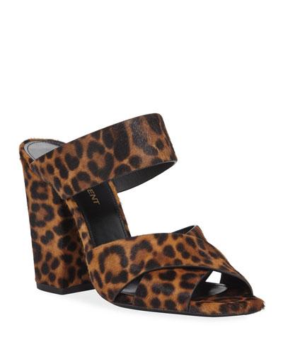 Jodie Leopard-Print Mule Sandals