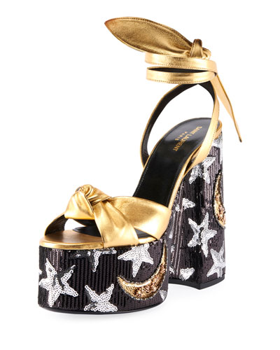 Paige Knotted Star Platform Sandals