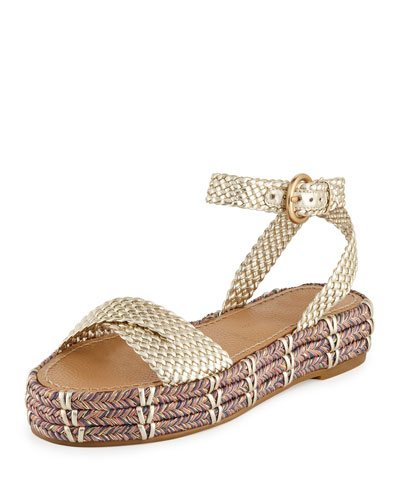 Jaiyce Braided Leather Platform Sandals