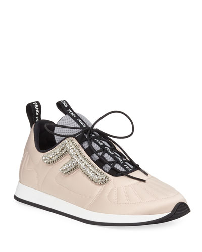 Freedom Stretch Sneakers with Crystals