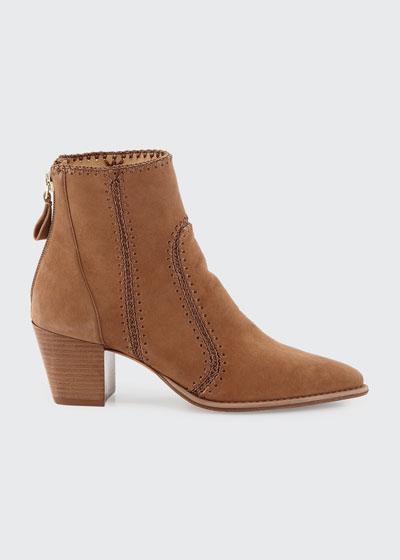 Benta Suede Stitched Booties