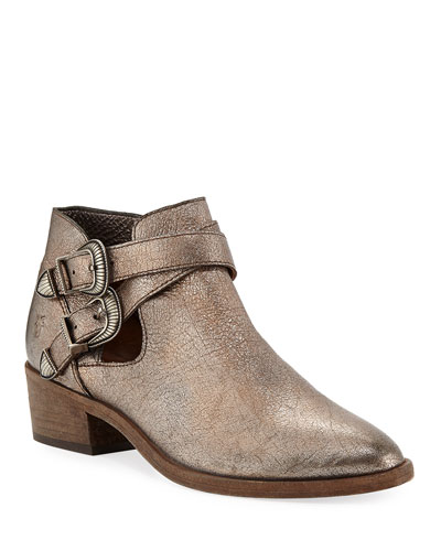 Ray Western Metallic Ankle Booties