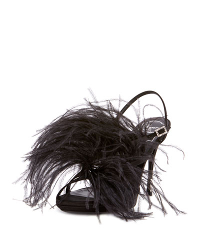 Sin Star Feathered Sandals