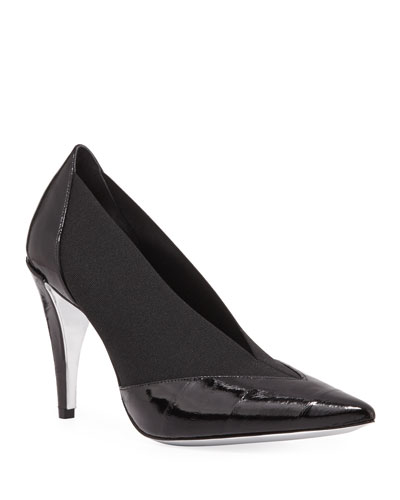 Show Eel Pointed-Toe Stretch Pumps