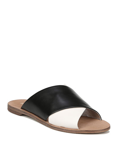 Bailie Two-Tone Flat Sandals