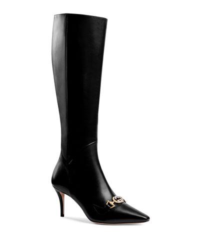 Zumi Horsebit Knee Boots