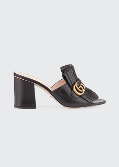 Marmont Block-Heel Kiltie Sandals