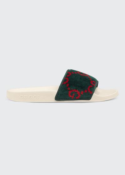 Pursuit Terry Cloth Logo Pool Slide Sandals