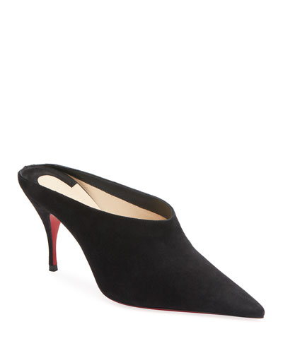 Quart Pointed-Toe Red Sole Mules