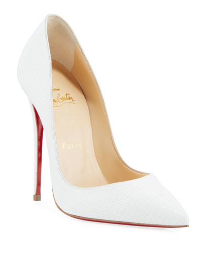 So Kate Embossed Red Sole Pumps