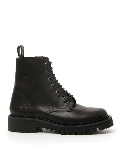 Go Logo Combat Boots