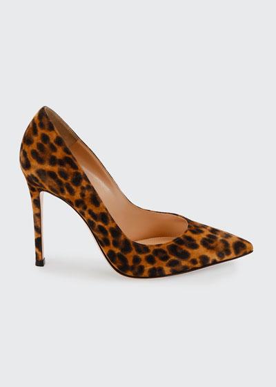 Leopard-Print Suede Stiletto Pumps