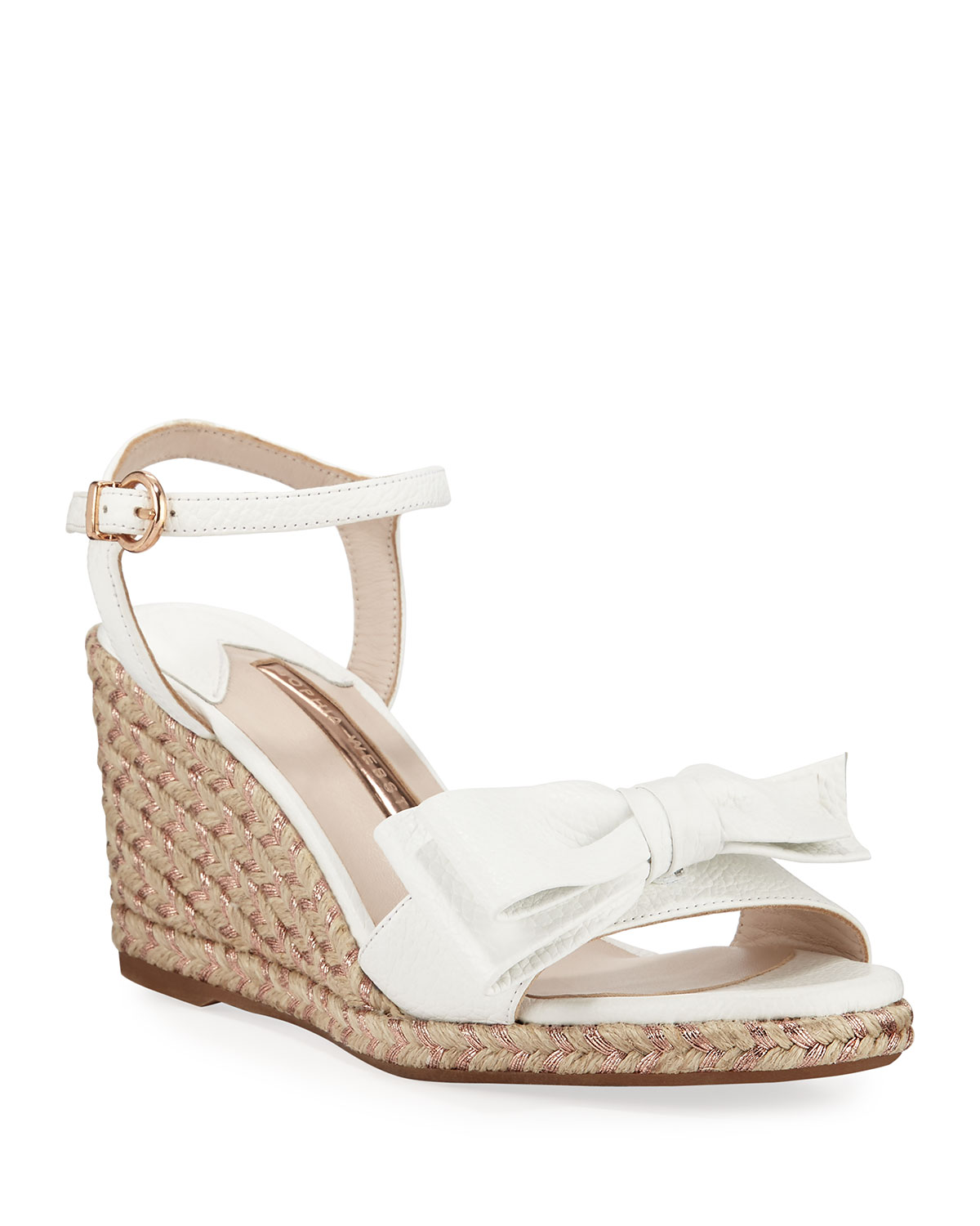 Sophia Webster Wedges BONNIE MID-WEDGE BOW ESPADRILLES