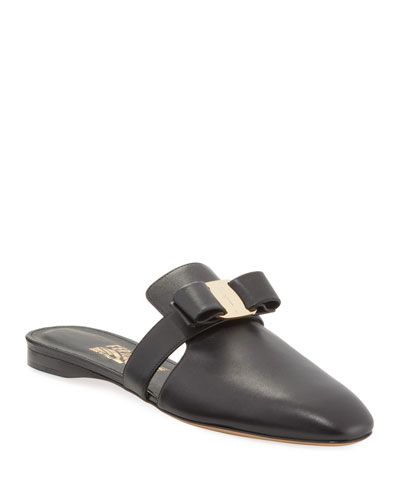 Briza Leather Vera Bow Ballerina Flats