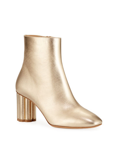 Molfetta Metallic Leather Booties