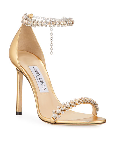 Shiloh Metallic Crystal Sandals