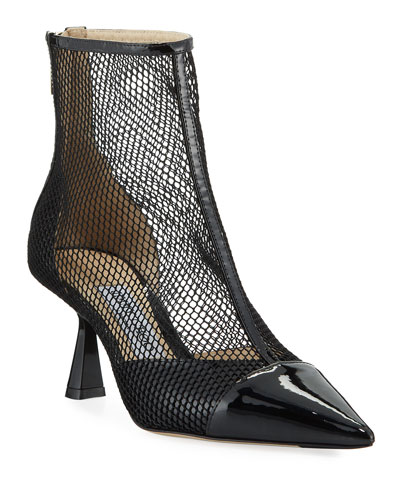 Kix Pointed-Toe Mesh Booties