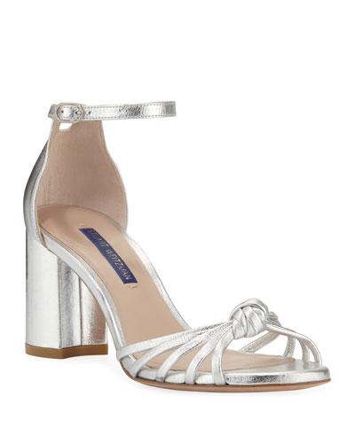 77c7cf0a276b Sutton Metallic Block-Heel Sandals