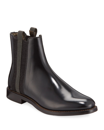 Chelsea Leather Monili Booties