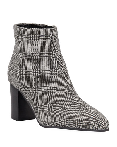 Florita Plaid Zip Booties
