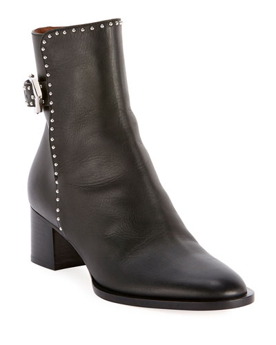 Elegant Studded Ankle Booties