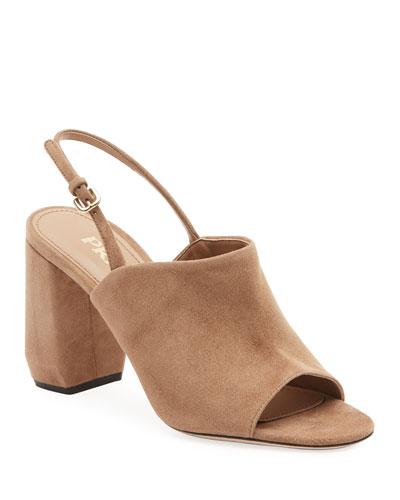 Slingback Suede 85mm Sandals