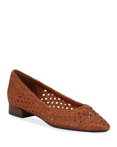 Penina Woven Leather Flats
