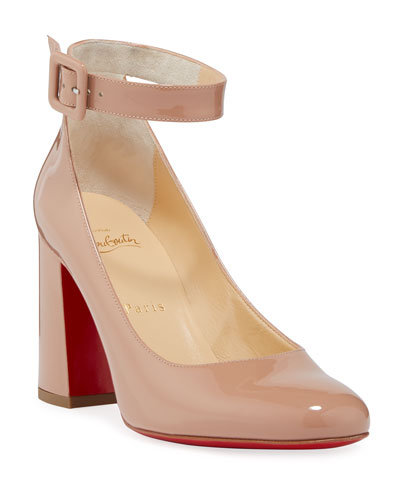 Soval Patent Red Sole Pumps