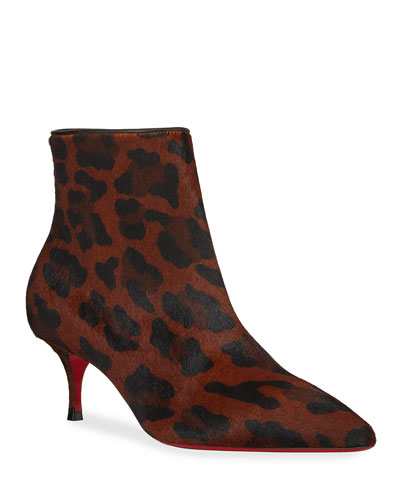 So Kate Leopard Red Sole Booties