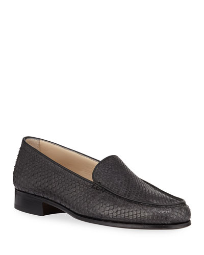 Python Moccasin Loafers