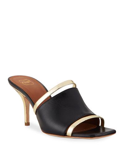 Laney Banded Metallic Mule Sandals