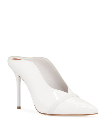 Patent Leather High-Sided Mules