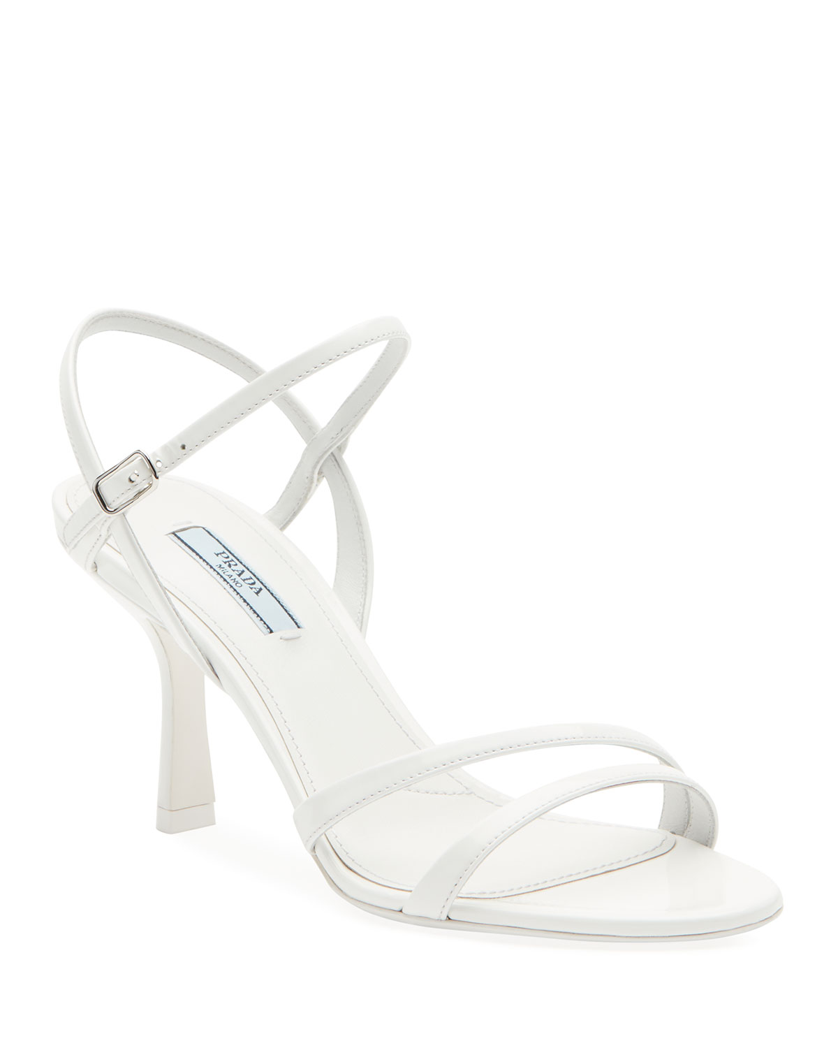 Prada Sandals PATENT STRAPPY ANKLE SANDALS