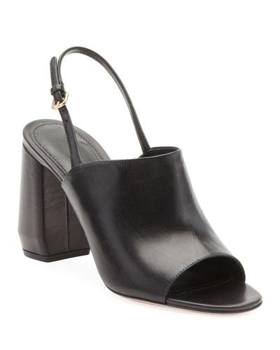 Leather Slingback 85mm Sandals