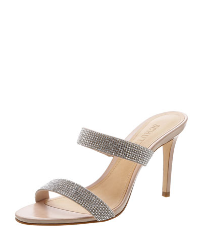 Beatriz Crystal-Embellished Evening Sandals