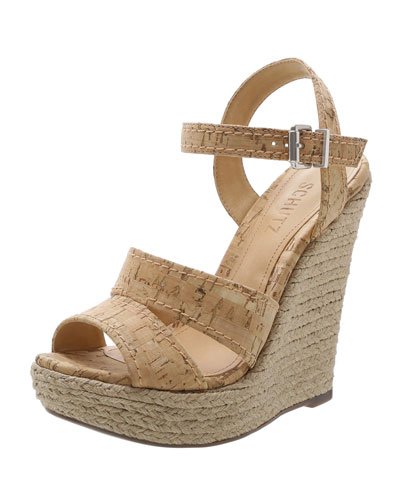 Dorida Cork Espadrille Wedge Sandals