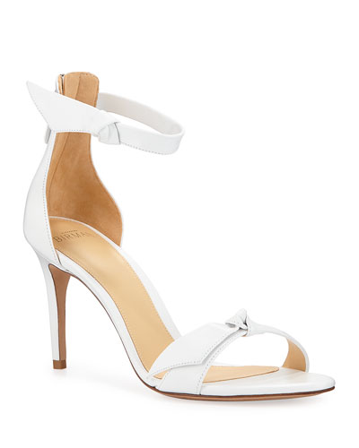 Asymmetric Clarita Leather Ankle-Strap Sandals