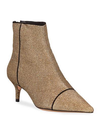 Kittie Glittered Mesh Ankle Booties