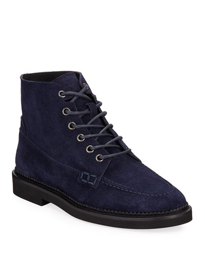 Combat Lace-Up Suede Ankle Boots