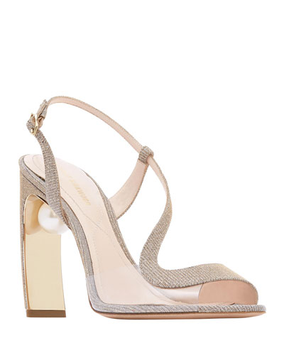 Meava Pearly Slingback Sandals