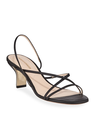 60mm Leeloo Strappy Leather Sandals