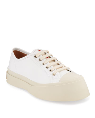 Chunky Leather Platform Sneakers