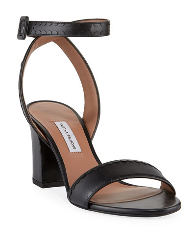 4e95f1edf27c Leticia Ankle-Wrap Frilled Leather Sandals Quick Look. Tabitha Simmons