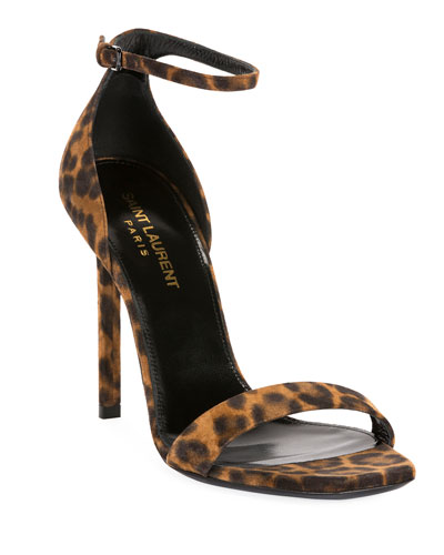 Amber Leopard Strappy Sandals