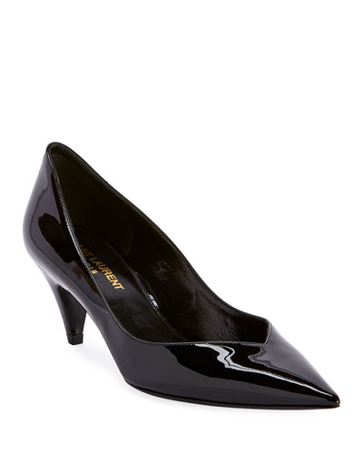 Charlotte Patent Pointed Pumps