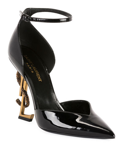 Opyum Serpent Logo-Heel Sandals