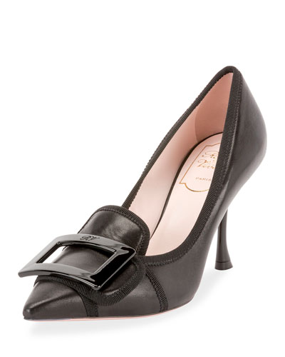 Gommettine Soft Leather Buckle Pumps