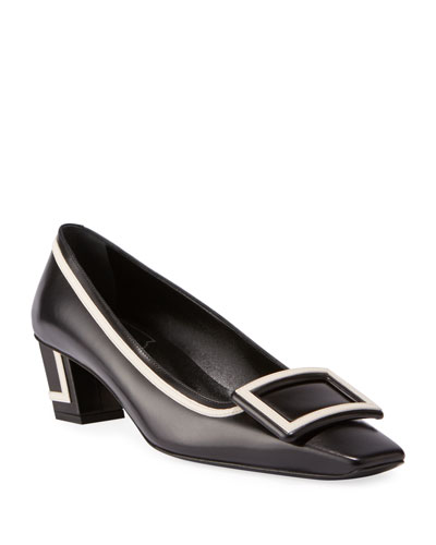 Graphic Belle Buckle Pumps